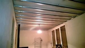 Faux Plafond Placo Sur Rail : plafond en placo ~ Melissatoandfro.com Idées de Décoration