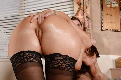 Milf In Stockings Syren De Mer Takes A Painful Ass Fucking From Big Cock