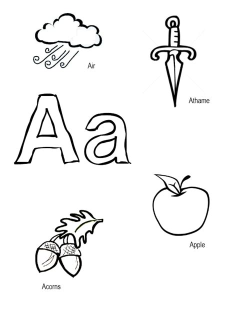 things that start with the letter a coloring sheets pagan acorns 41901