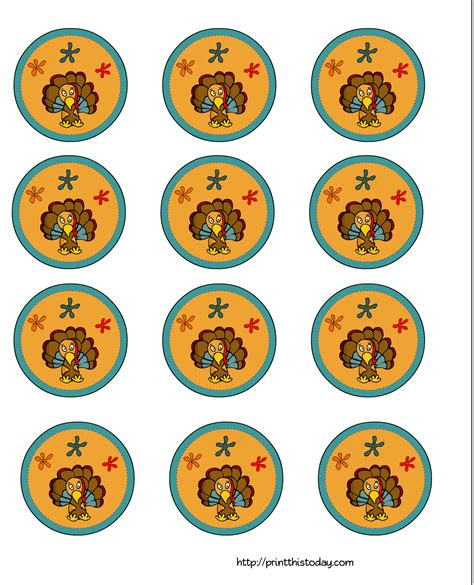 printable thanksgiving cupcake toppers