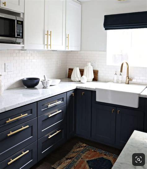 black lowers white uppers quartz counter tile