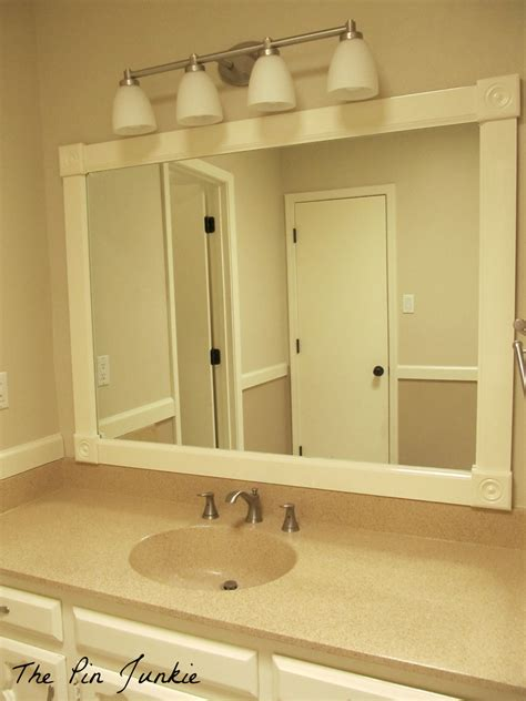Framed Bathroom Mirror Ideas by Framing Bathroom Wall Mirror Mirror Framed Wall