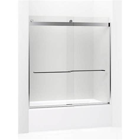 kohler levity sliding shower door kohler levity 59 625 in w x 62 in h frameless sliding 8820