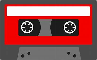 Cassette Tape Clipart Clip Colorful Retro 90s