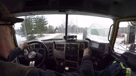 mack truck  cab viewsalting  roads youtube