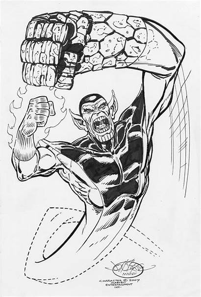 Skrull Byrne John Comic Marvel Commission 2007