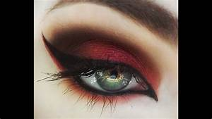 Red Smokey Eye Makeup Tutorial  Naomi