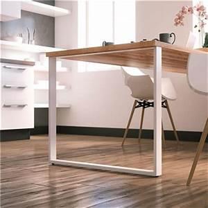 Table Bois Pied Blanc : pied de table de qualit ~ Teatrodelosmanantiales.com Idées de Décoration