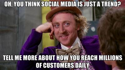 Social Media Meme - how to report on the value of social media