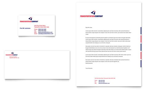transportation company business card letterhead template