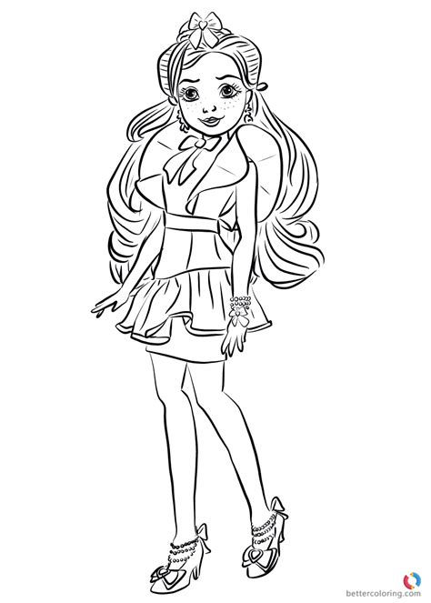 jane wicked world  descendants  coloring pages