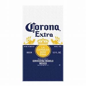 Corona extra beer label beach towel blue ebay for Corona beer label