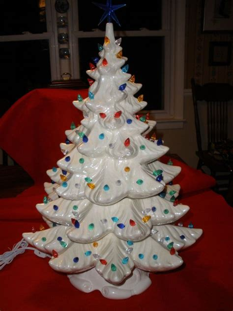 details about vintage white pearlescent ceramic christmas
