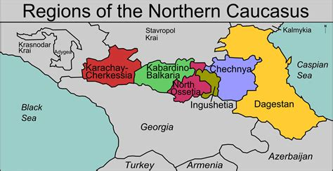 Filenorthern Caucasus Regions Mappng  Wikimedia Commons