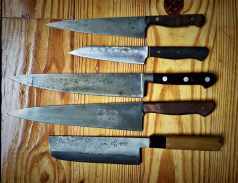 high carbon steel kitchen knives alton brown 39 s knife buying tips