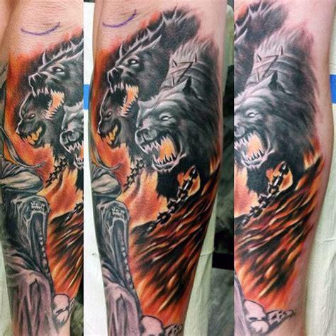 cerberus tattoo designs  men  head dog ideas