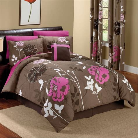 Pink Bedroom Sets by Chocolate And Pink Floral Comforter Set For The Home