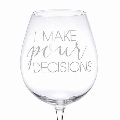 Decisions Wine Glass Icing