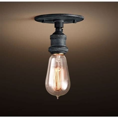 20th c factory filament bare bulb flushmount 75 liked