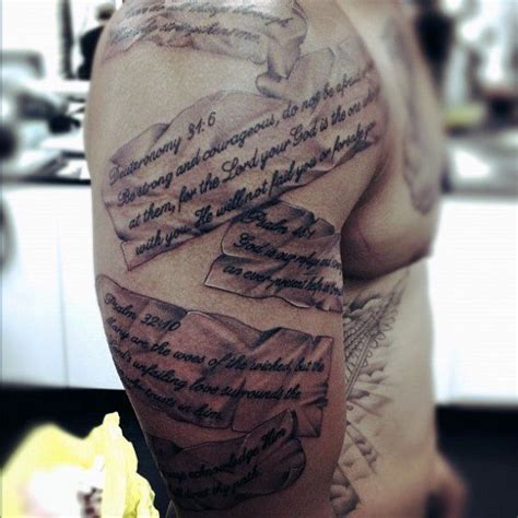 bible verse tattoos  men scripture design ideas