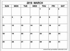 Big Printable March 2018 calendar free 2019 2018