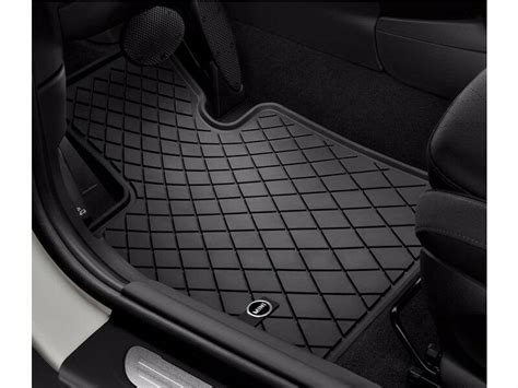 pc oem mini cooper  rubber floor mat set mini logo