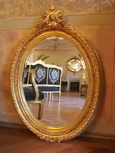 Spiegel Antik Oval : prunkvoller wandspiegel barock spiegel antik gold holzrahmen oval 112x 80 ebay ~ Markanthonyermac.com Haus und Dekorationen