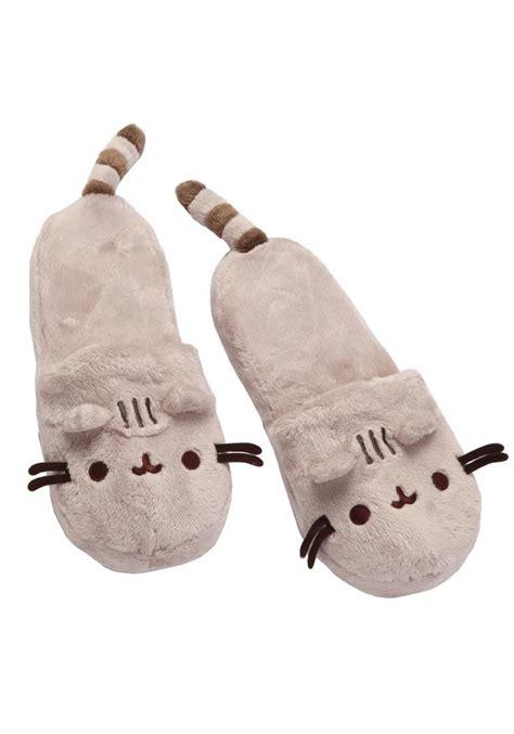 pusheen pusheen  cat slippers newbury comics