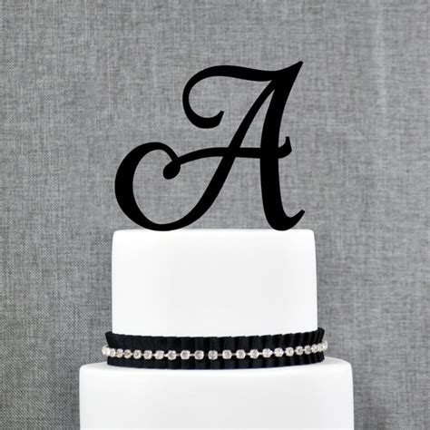 acrylic initial letter  monogram personalized wedding cake topper unique cake topper buy