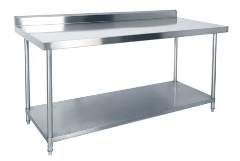 restaurant style kitchen faucet stainless steel prep table shelf commercial stainless
