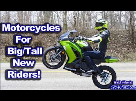 beginner motorcycles  big tall riders motovlog youtube