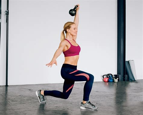 kettlebell lunge beginners workout belly fat lose