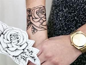 Tatouage De Rose : tatouage rose poignet elles poussent sur la peau id es ~ Melissatoandfro.com Idées de Décoration