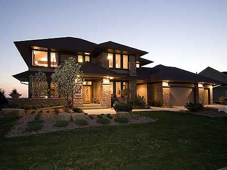 prarie style homes plan w14469rk prairie style home plan e architectural
