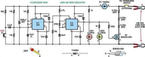 Internal Resistance Tester For Batteries Circuit Diagram