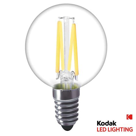 kodak 40w equivalent warm white g16 5 globe led light bulb