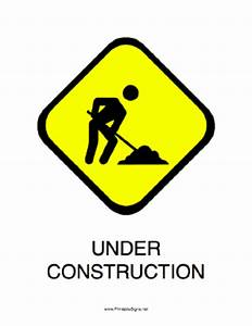 Printable Under Construction Sign