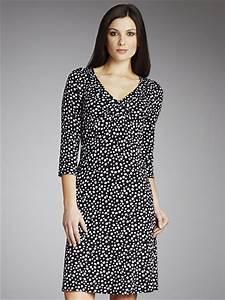 buy betty barclay spotty v neck dress black white online With robe betty barclay