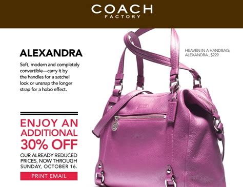 Coach Factory Outlet Coupon