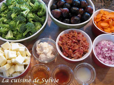 sylvie cuisine la cuisine de sylvie salade de brocoli