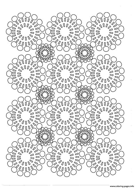 adult circles flowers coloring pages printable