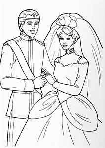 Disney Coloring Pages : Ken and Barbie Wedding | Kids ...