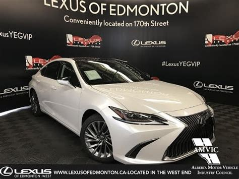 white  lexus es  ultra luxury package review