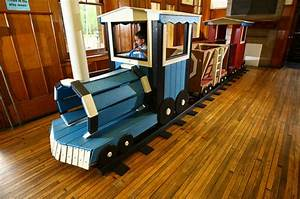 Wood Wooden Train Playground Plans PDF Plans