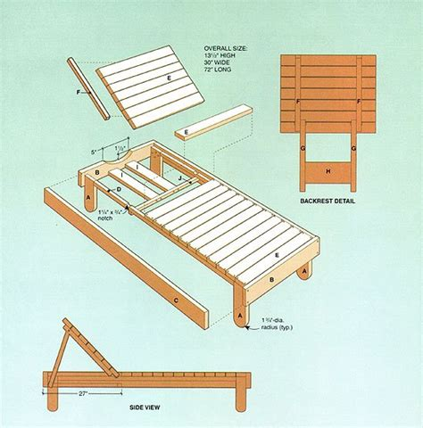 lounger plans woodwork city  woodworking plans