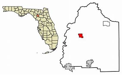 County Florida Gilchrist Trenton Unincorporated Bell Svg