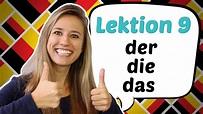GERMAN LESSON 9: The German Definite Articles DER, DIE ...
