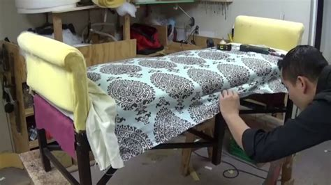 diy bench  roll arms alo upholstery youtube