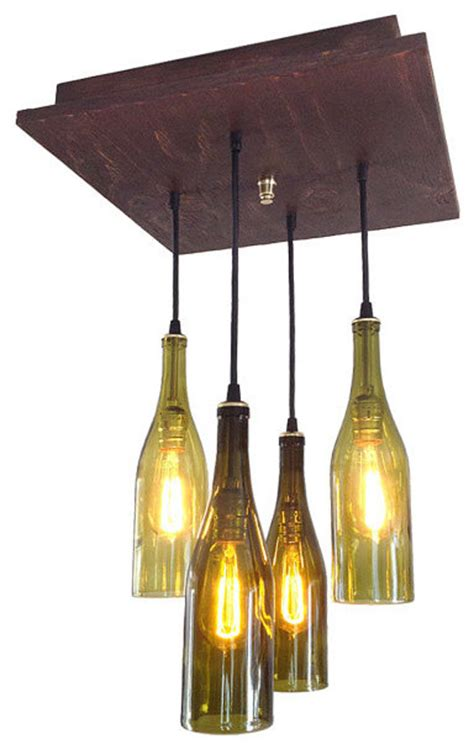 mid century chandelier rustic wine bottle lighting
