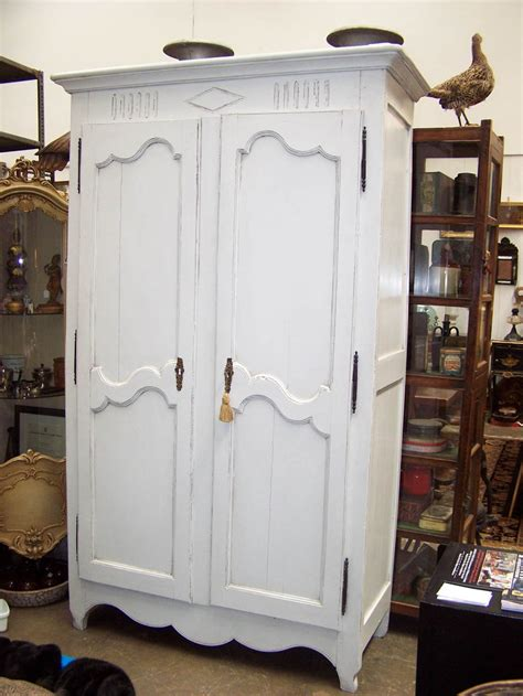 Armoire Linen Cupboard by Armoire 19th Century C1850 Painted At Bashford Antiques